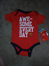 NWT Boys SUPERMAN One-Piece Romper Size 3-6 Months