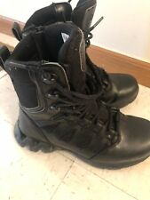 "Reebok 8"" Zigkick Tactical Boot Side Zipper Black Composite Toe US 6.5 Women 8.5"