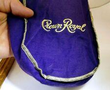 "Crown Royal Bag 750ml 9"" medium drawstring purple  Bag Pouch for lens"