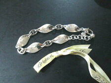 BRIGHTON Jewelry Twirl Twist Silver BRACELET w Gift /Storage Pouch