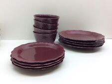 The Pioneer Woman Cowgirl Lace 12 Piece Dinnerware Set Plum