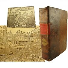 1520 Supplementi de le Chronich Vulcare,Jacobo Foresti.Binding,map,woodcuts,etc.