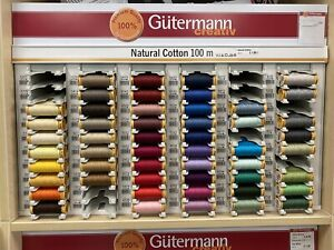Gutermann NATURAL COTTON  Thread 100m (ALL COL) only £1.60 MUST BUY promo price