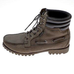 timberland mens boots earthkeepers oakwell moc toe 6005B size 9.5 gray nubuck