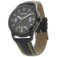 Impulse by Steinhausen IM8686LY Men's Watch Black Dial Black/Yellow Leather Band