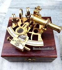 Handmade Black Coating Powder Box Sextant Working Ship Collectible Xmas Gift. Antiques