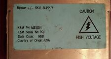 K & M PN MS 1004 Power Supply Bipolar Dual Output Waters Spectrometer Micromass