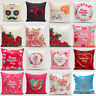 Happy Valentine's Day Throw Pillow Case Rose Sweet Love Square Cushion Cover