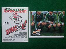 EURO 88 1988 n 182 IRLANDA SQUADRA TEAM , Figurina Sticker Calciatori Panini NEW