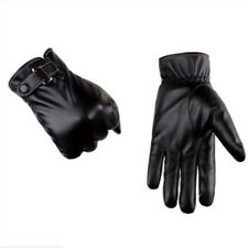 Men Warm Soft Real Leather Screen Touch Winter Waterproof Gloves Driving Gloves