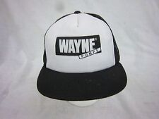 trucker hat baseball cap WAYNE PUMPS snapback cool mesh vintage 1980 flat brim
