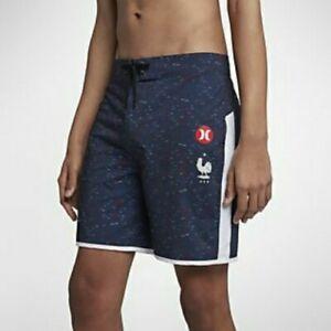 "Nike Hurley FFF Phantom France Swimming Surf Board Shorts BNWT Size 28"""