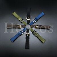 20-22 MM Canvas Leather Strap Band for Breitling Super Ocean Heritage Avanger