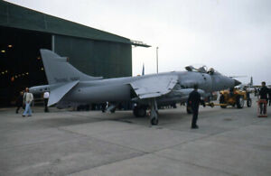 original 35mm Aircraft slide  XZ459 (256)  809Sqd Sea Harrier FRS1 Yeovilton Jul