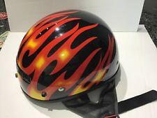 HD Powersports XTS X-Small Half Motorcycle Helmet Fibergass EUC 2005