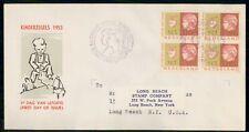 Mayfairstamps Netherlands 1953 Block Kinderzegels First Day Cover wwe92663