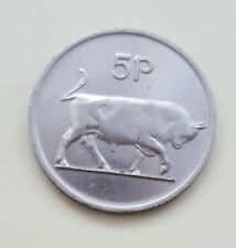 1982 Irlanda/in EIRE di grandi dimensioni, 5p, Cinque Pence Moneta-alta qualità-grande medaglia