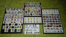 Lot de 13 séries complètes DIFFERENTES timbres  France oblitérés  de 2017/2016