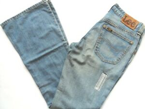Vintage Light Wash Flare Jeans Women Felton Waist Size 8 Leg 33 LEE