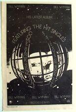 the rolling stones BILL WYMAN 1982 Poster Ad
