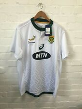 South Africa Rugby Men's Asics Springboks Away Shirt - 3XL - White - New