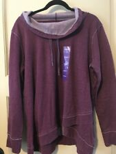 NEW Women Purple Calvin Klein Burn Out Sweatshirt Fade Shirt Soft Top XXL/1X/2X
