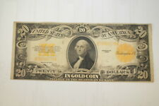 Series 1922 Twenty in Gold Coin Large Currency Washington Blanket Note Nice