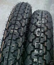 New Tires Tubes Set Dunlop K70 3.25 19 & 4.00 18 Triumph BSA Norton