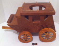 Vintage Wooden Western Stagecoach Planter Box, 17x10x7, Home Decor, Country &
