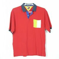 Vintage Mens Tommy Hilfiger Polo Size XL with Snap Buttons