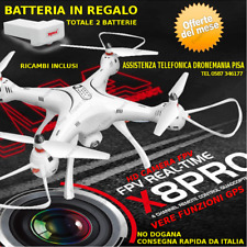 DRONE SYMA GPS auto ritorno reale CAMERA HD ruotabile e FPV real time X8 PRO XXL