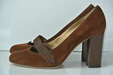 Philosophy di Alberta Ferretti Womens Sz 39 / 8.5 Brown Suede Heels NICE!!