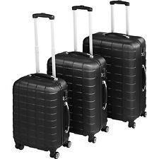 ABS Reisekoffer 3er Set Trolley Kofferset Hartschalenkoffer Hartschale schwarz