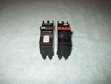 Federal Pacific 20 Amp 2 Pole NC NC220 Stab-Lok Circuit Breaker FPE Mini Twin