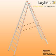 Layher Alu Sprossenstehleiter, 2x14 Spr., L=4,10m, Bockleiter Topic Typ 1039.014