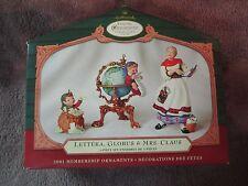 Hallmark Keepsake Ornament, Lettera, Globus & Mrs Claus Collector's Club