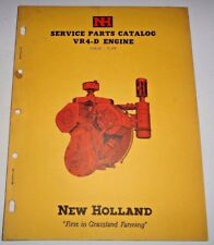 New Holland Wisconsin VR4-D Engine Parts Catalog Manual Book NH Original! 7/59