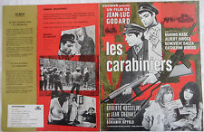 Brochure promotionnelle 4 pages du film LES CARABINIERS Jean Luc Godard