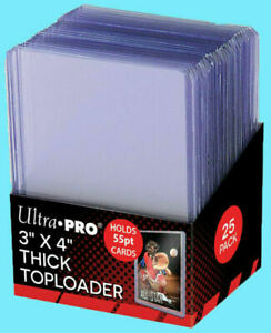 100 Ultra Pro 3 x 4 Action Packed 55pt.Thick Card Toploader Holders