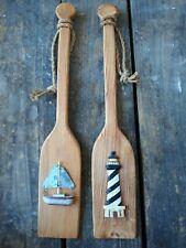 Wooden Pine Boat Oars Stainless steel Oar Locks 180,195,210,225,240 cm 2pcs