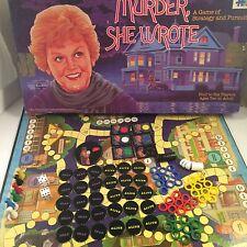 Rare Vintage Murder She Wrote Board Game Warren 1985 Angela Lansbury