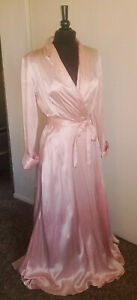 Vintage Pink Silk Fabulous Movie Star flowing Nightgown Robe -P As Found