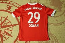 BAYERN MUNICH COMAN #29 2017 2018 FOOTBALL SHIRT HOME ADIDAS ORIGINAL YOUNG M