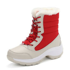 Winter Women's Shoes Warm Snow Boots High Top Waterproof Thick Lace Up Booties