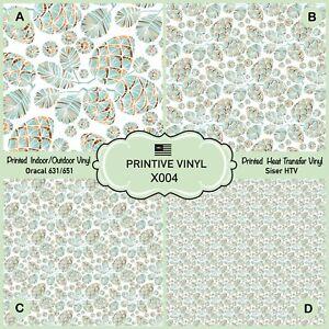 Christmas Pine Cone Patterned Heat Transfer Vinyl, Adhesive Vinyl X004