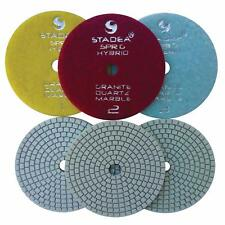 Stadea Diamond Polishing Pad Three 3 Step Wet Dry 4 For Granite Quartz Polish