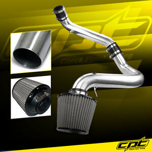 For 91-99 Saturn S-Series MT 1.9L 4cyl Polish Cold Air Intake + Stainless Filter