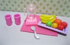 Barbie Kelly Doll 1:6 scale Diorama PLAY FOOD KITCHEN LITTLES Dollhouse Smoothie