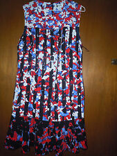 PETER PILOTTO for TARGET RED FLORAL STRIPE SHIFT DRESS Size M Medium NEW