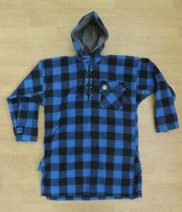 Men's SWANNDRI Ranger Bushshirt Long Blue Check Mens Wool Jacket  M1-B4